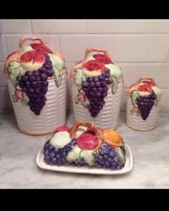 New Kitchen Canisters / Storage Jars and Garlic Keeper