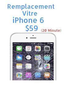 ✔️⭐ 20 Minute ✔️⭐ Reparation Vitre Lcd iPhone 6 Seulement $59