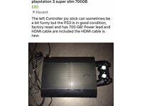 PS3 super slim 700GB