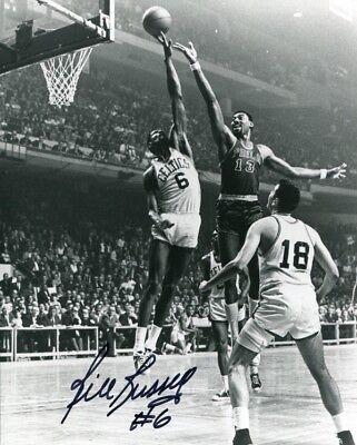 Bill Russell Autographed / Signed Blocking Wilt Chamberlain 8x10 Photo