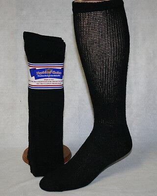 Black Diabetic Crew Socks (6 PAIR BIG MENS BLACK PHYSICIAN'S CHOICE OVER THE CALF DIABETIC CREW SOCKS 13-15 )