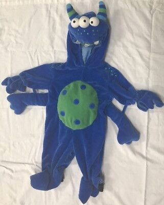 Miniwear Baby Infant 0-3 Months Blue Monster Alien Halloween Costume Warm - Infant Halloween Costume 0-3 Months