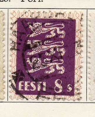 Estonia 1928-29 Early Issue Fine Used 8s. 087900