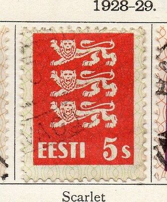 Estonia 1928-29 Early Issue Fine Used 5s. 087899