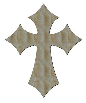 UNFINISHED WOOD CROSS CROSSES DIAMOND STYLE 15'' tall - Unfinished Wood Cross