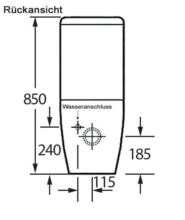 Bernstein Stand Wc Mit Spulkasten Toilette Ct1088