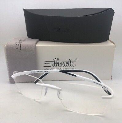 New SILHOUETTE Eyeglasses SPX 2896 40 6058 54-19 150 Rimless Matte White Frame - Matte White Silhouette