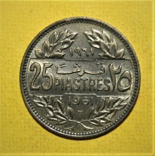 Lebanon 25 Piastres 1961 Brilliant Uncirculated Coin