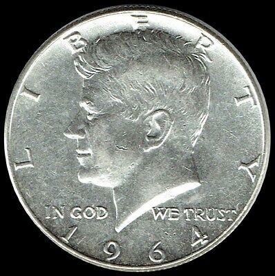 - 1964 D Kennedy Half Dollar 90% SILVER US Mint Coin