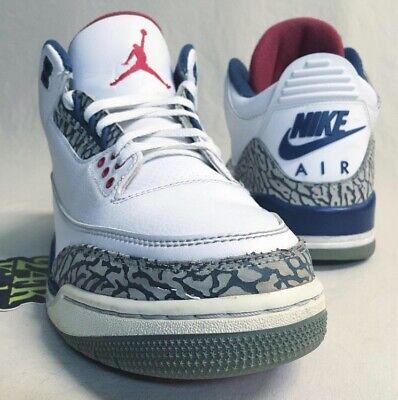 Air Jordan Retro 3 True Blue Sz 9 2016 Black White Cement '88 Katrina Fire Red