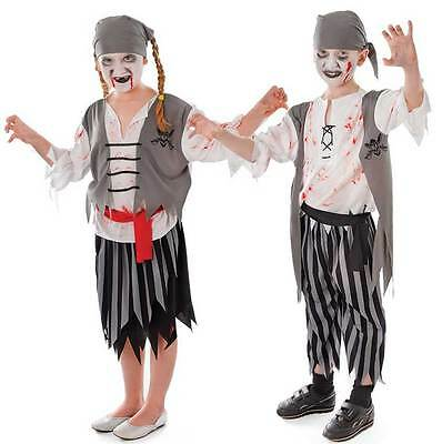 Jungen Mädchen Zombie Geist Piraten Halloween Kostüm Geist Outfit 4-10