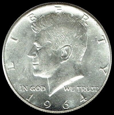 "1964 P Kennedy Half Dollar 90% SILVER US Mint Coin ""About Uncirculated"""