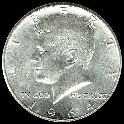 - 1964 P Kennedy Half Dollar 90% SILVER US Mint Coin