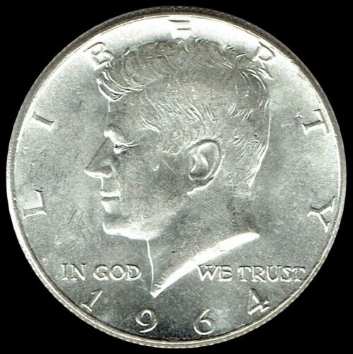 """1964 P Kennedy Half Dollar 90% SILVER US Mint Coin """"About Uncirculated"""""""
