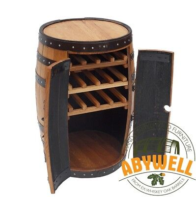 Oak Barrel Drinks Cabinet-Wine Rack_made&recycled from Scotch ex-Whiskey Barrel for sale  Shipping to Ireland