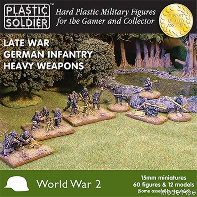 PLASTIC SOLDIER COMPANY 15mm Scale German Infantry Heavy Weapons Late War