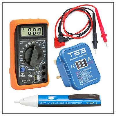 Digital Multimeter VOLTAGE Detector PEN Socket TESTER Set Electrical Testing Kit