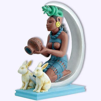 Mayan Goddess of Fertility Ixchel Statue with Moon Rabbit La Diosa Mexicana #IXM