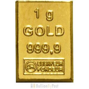 1 Gram Gold Bar CombiBar unit 1g