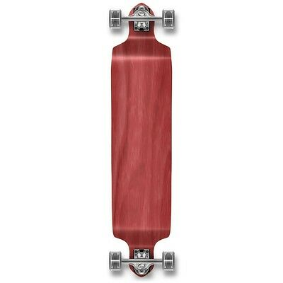 Yocaher Drop Down Blank Longboard Complete - Stained Red