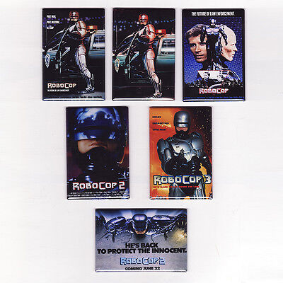 ROBOCOP MOVIE POSTER MAGNETS (ocp toy print 2 3 vhs sega ed-209 laserdisc art)