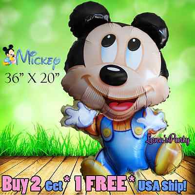 1ct Mickey Minnie Mouse Baby Shower 1st First Birthday Newborn Girl Boy Great! - Mickey Mouse 1 Birthday