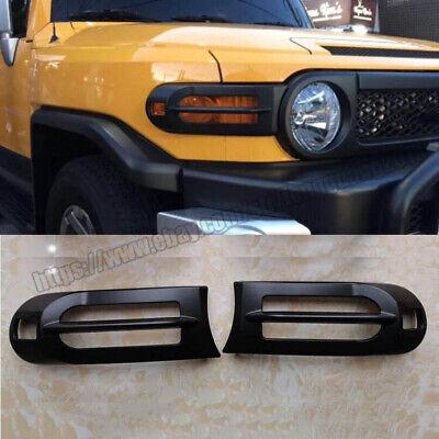 For Toyota FJ Cruiser 2007-2014 Black Car Front Fog Light Bumper Lamp Cover Trim