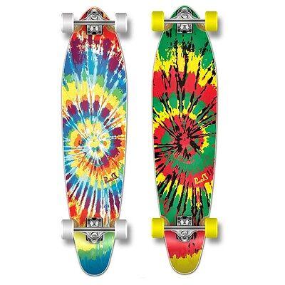 Yocaher Complete Kicktail Tiedye Original Skateboard Longboard