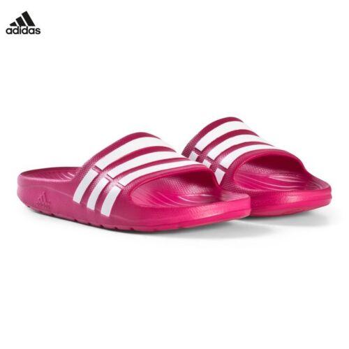 promo code e91aa 8f13c NWT adidas Duramo Slides Sandals Pink Kids Sz 11 12 13 1 2 3 4 5