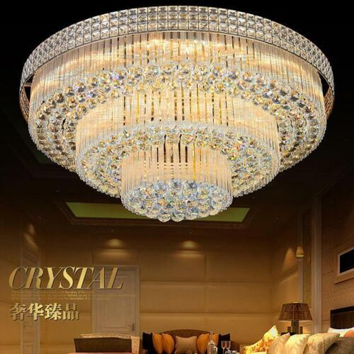 3 Layers K9 Crystal Chandeliers Remote Control LED Pendant C