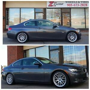 Call 905 673 2828 @Zracing 18 Inch Rims Winter Tires BMW 3 Series F30 4 Series $1150 + tax (4Rim 4Tires) BMW Winter Tire