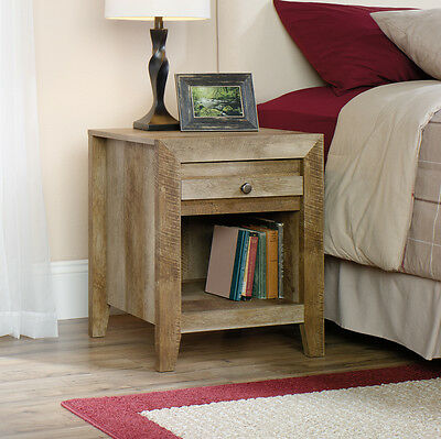 منضدة جانب السرير جديد Sauder Furniture 418176 Dakota Pass Bedroom Furniture Night Stand Craftsman Oak