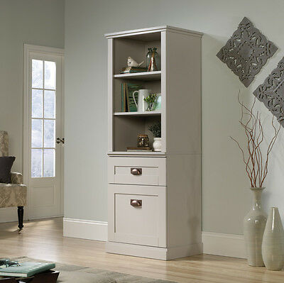 خزانة جديد Sauder Home Furniture 419281 New Grange Tall Storage Farmhouse Shaker Cabinet