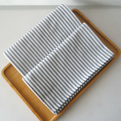 Set of 4 Washable Everyday Basic kitchen cloth 100% cotton dinner Stripe Napkins ()