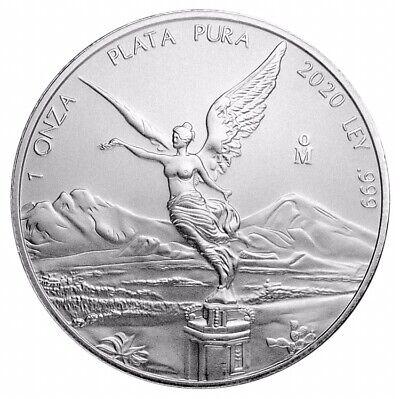 2020 Mexico Libertad 1 oz .999 Silver PRE-SALE Limited BU Round Bullion Coin(DEC