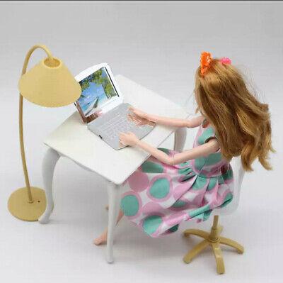 Dollhouse accessories Furniture Blythe House Desk Lamp Laptop Chair 4 Pcs Toys