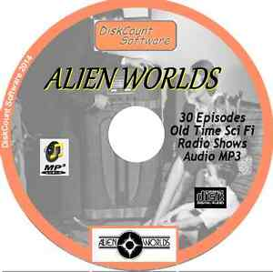Alien Worlds - 30 OTR  Old Time Radio Shows - Audio MP3 CD Space Sci Fi