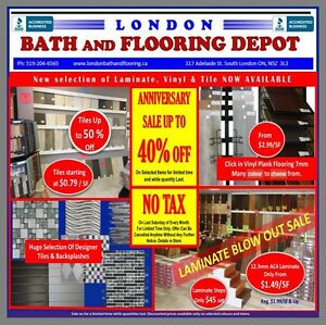 Hardwood  Laminate  Tiles  Vanity  Showers  Faucets  Toilets London Ontario image 1