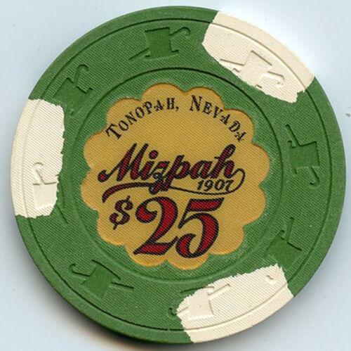 Mizpah Hotel/Casino, Tonopah, NV - $25 Chip -1984