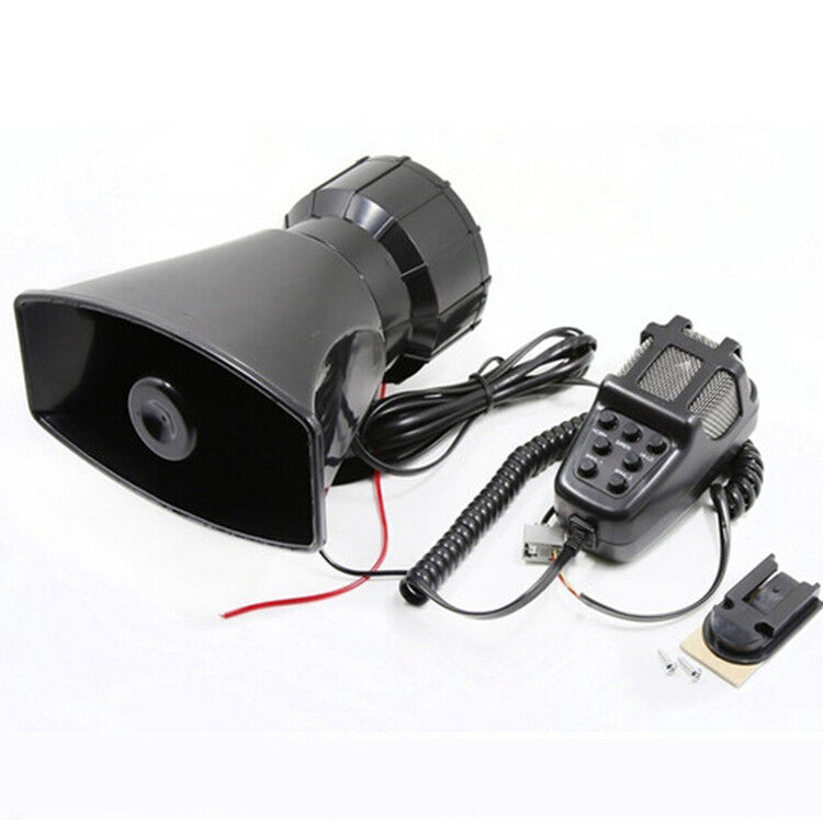 7 Tone Sound Car Siren Horn Mic PA Speaker System Emergency Amplifier Hooter 80W
