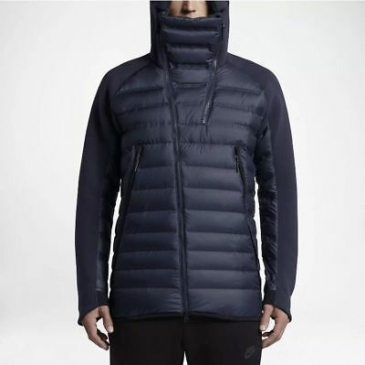 Nike Tech Fleece Aeroloft Down Jacket Winter NAVY BLUE BLACK 806838-451 XL Nike Navy Blue Jacket