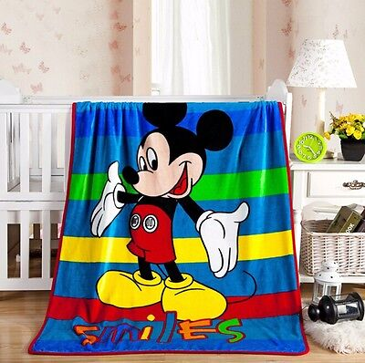 "39""x55"" Disney Mickey Mouse Warm Soft Plush Silky Flannel Blanket Throw Bedding for sale  China"