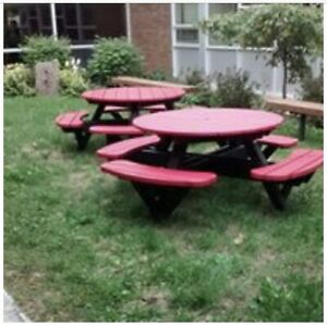 Commercial outdoor patio/picnic tables