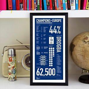Chelsea Football Club - Kings of Europe Print