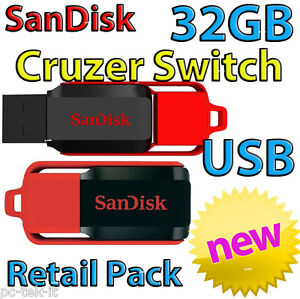 32GB USB Cruzer SWITCH USB Flash Drive Retail Pack Australian Stock NEW