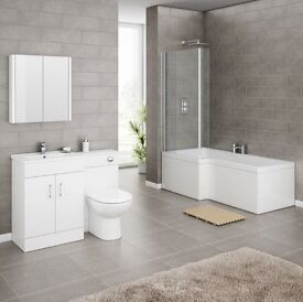 Bathroom suite with vanity