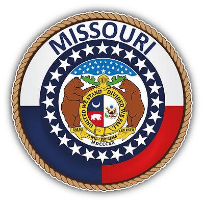 Missouri State Seal (Missouri USA State Seal Car Bumper Sticker Decal 5'' x 5'')