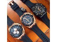 AP Audemars Piguet Rose Gold Automatic watch glass back cartier Rolex Patek Royal Oak Hublotoffshore