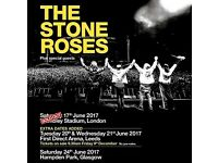 2x Stone Roses Tickets - Seated, Wembley June 2017