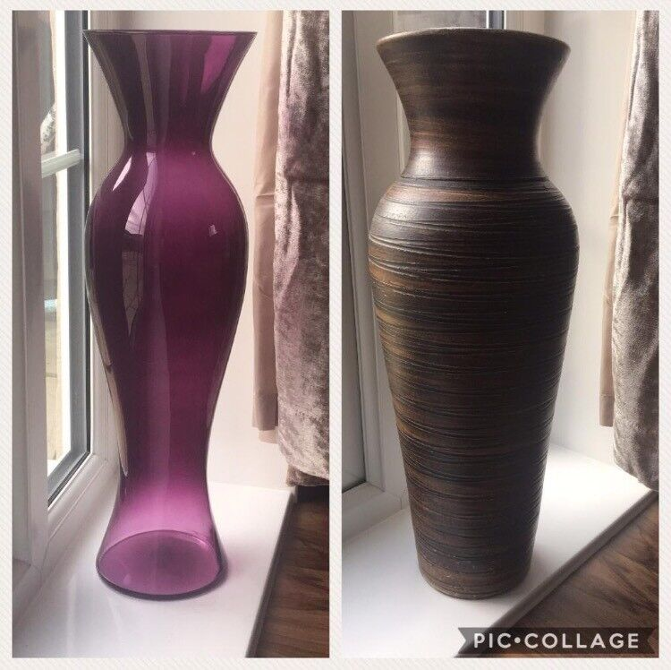 Large 60cm Purple Floor Vase In Glynneath Neath Port Talbot Gumtree